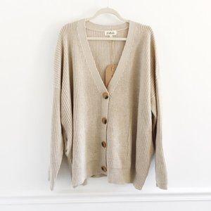 LISTLICLE Emelia Button Cardigan Grey SZ S